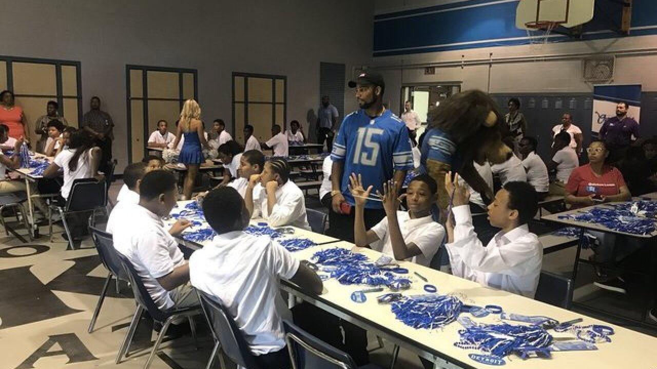 Lions surprise students with supplies, supportive message on first day of school