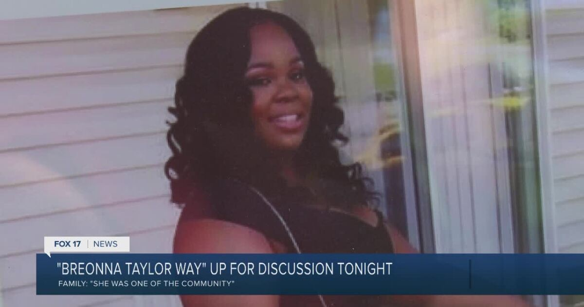 Breonna Taylor Way Honors Grand Rapids
