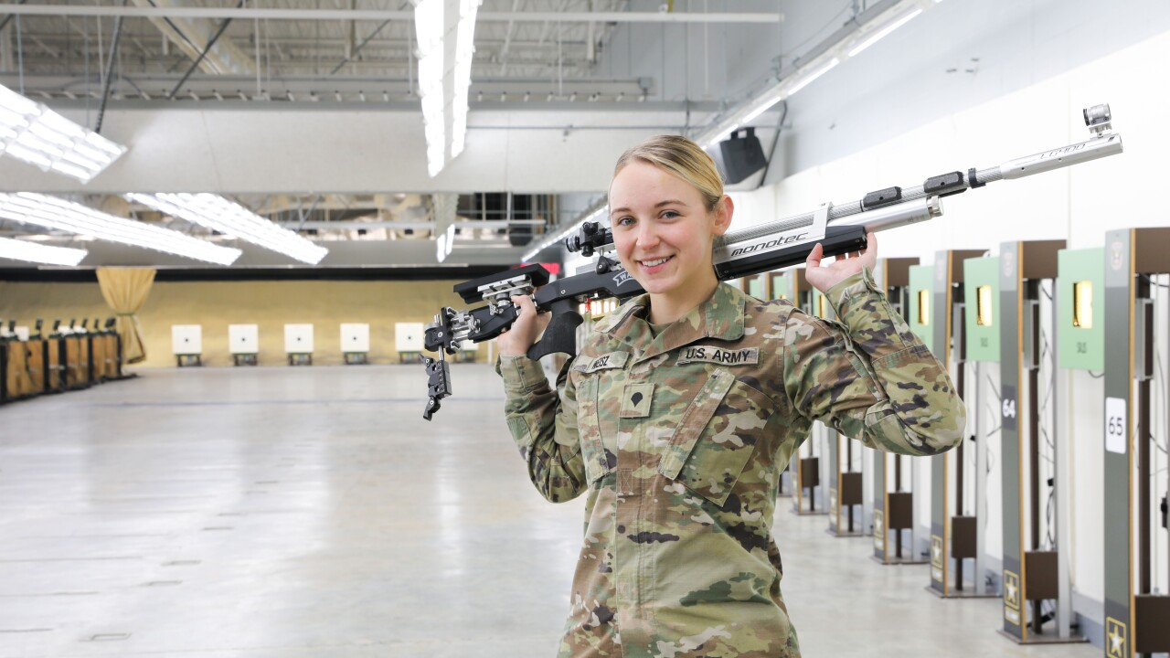 Belgrade's Alison Weisz shoots her way into Army Marksmanship Unit, prepares for 2021 Summer Olympics