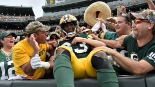 Aaron Jones Lambeau Leap