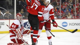 Red Wings give up four third period goals in loss to Devils