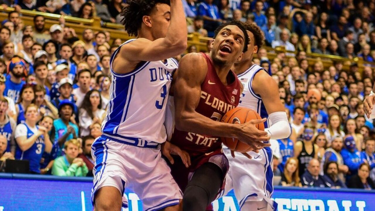 Trent Forrest could potentially go in the mid to late second round range for the 2020 NBA Draft.  (Photo: Alison Posey/ABC27, via WTXL Tallahassee.)