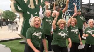 'We're going to go all the way': Milwaukee Bucks fans enjoy sold-out watch party in Fiserv Forum