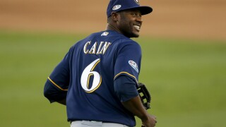 Outfielder Lorenzo Cain