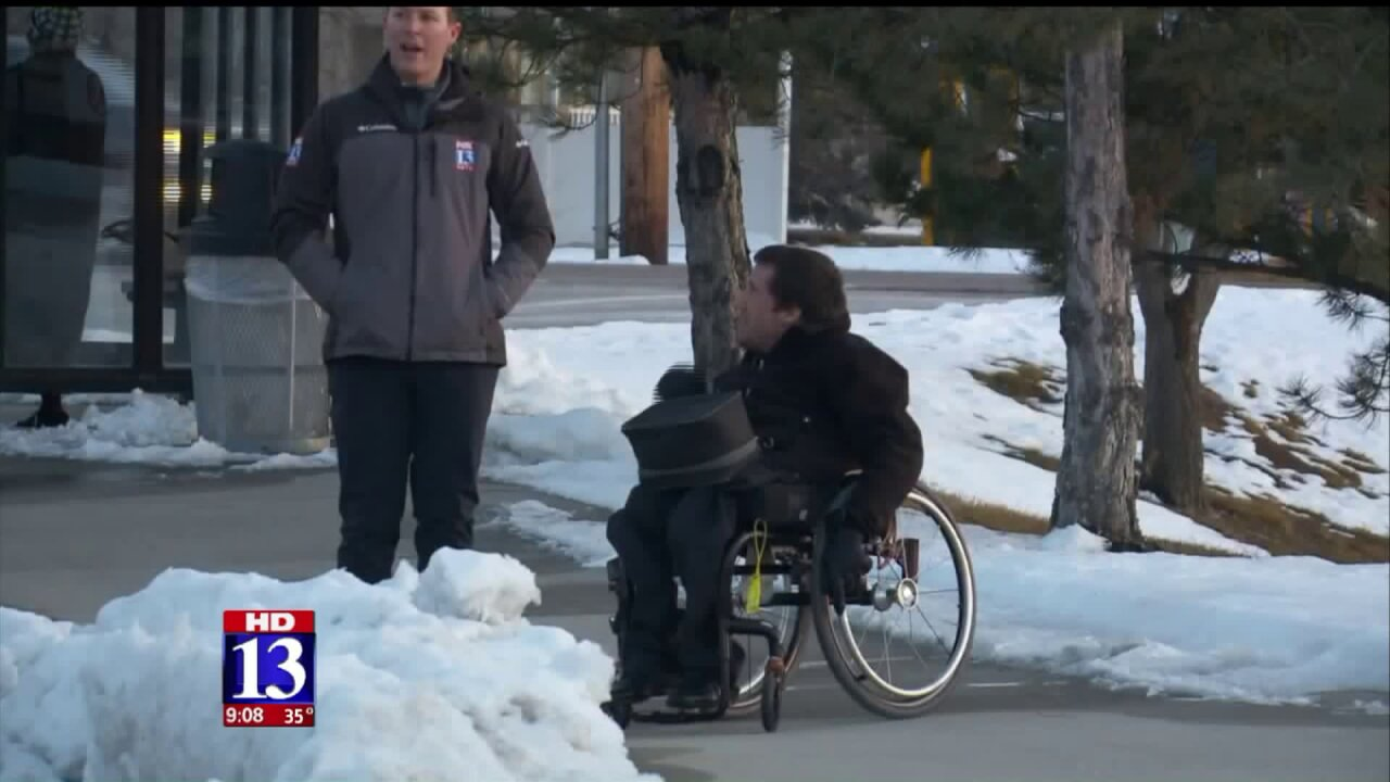 Snow on wheelchair ramps at TRAX station causes concern for some passengers