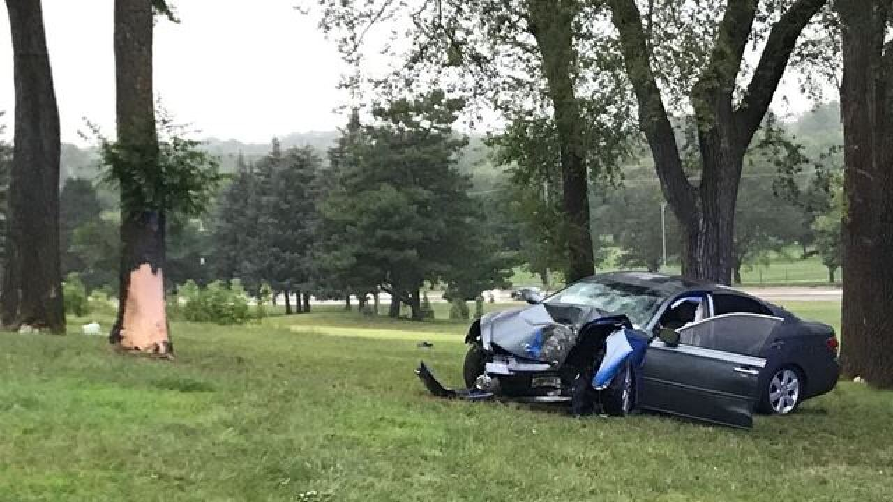 One car crash in Benson Park