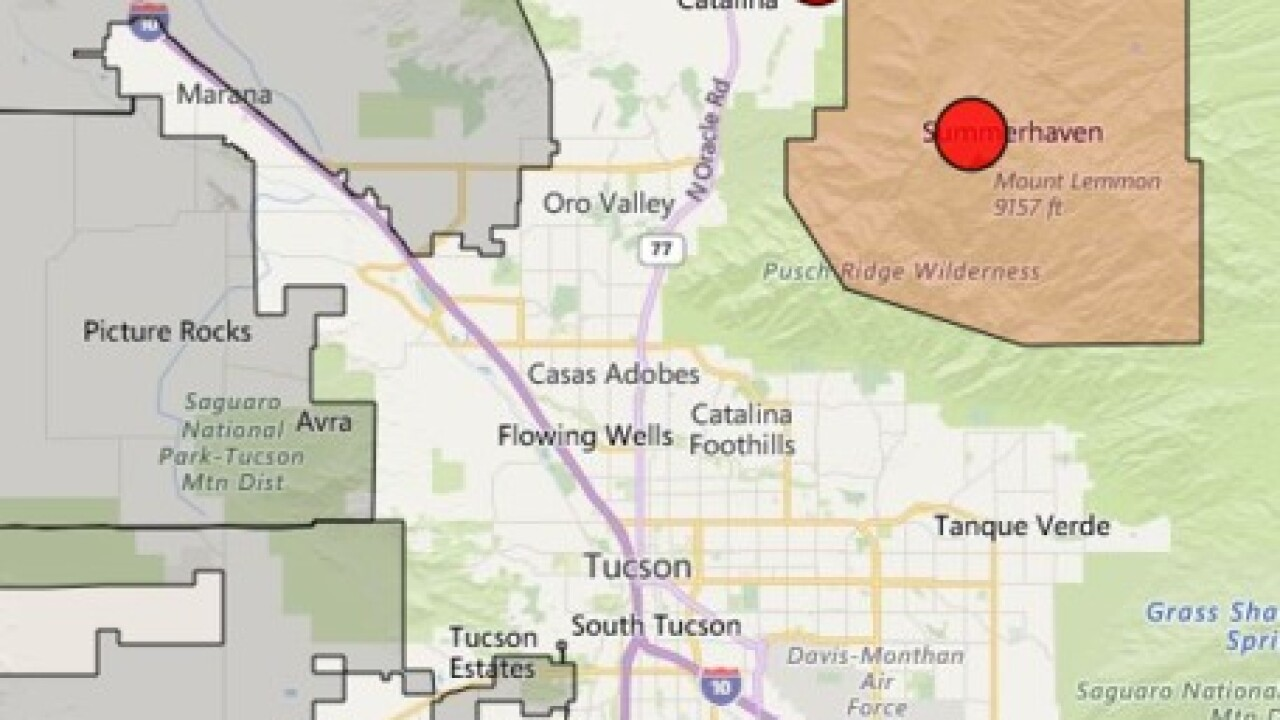 Thousands without power on Mt  Lemmon, Oracle