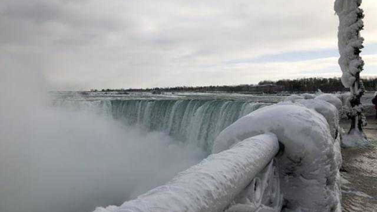 It's so cold, parts of Niagra Falls are frozen