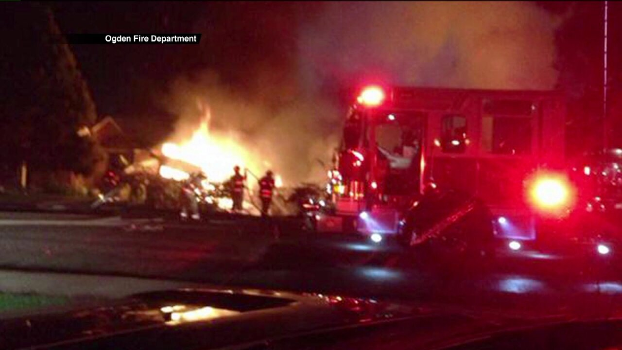 Firefighters urge caution after fireworks spark 2 house fires inOgden