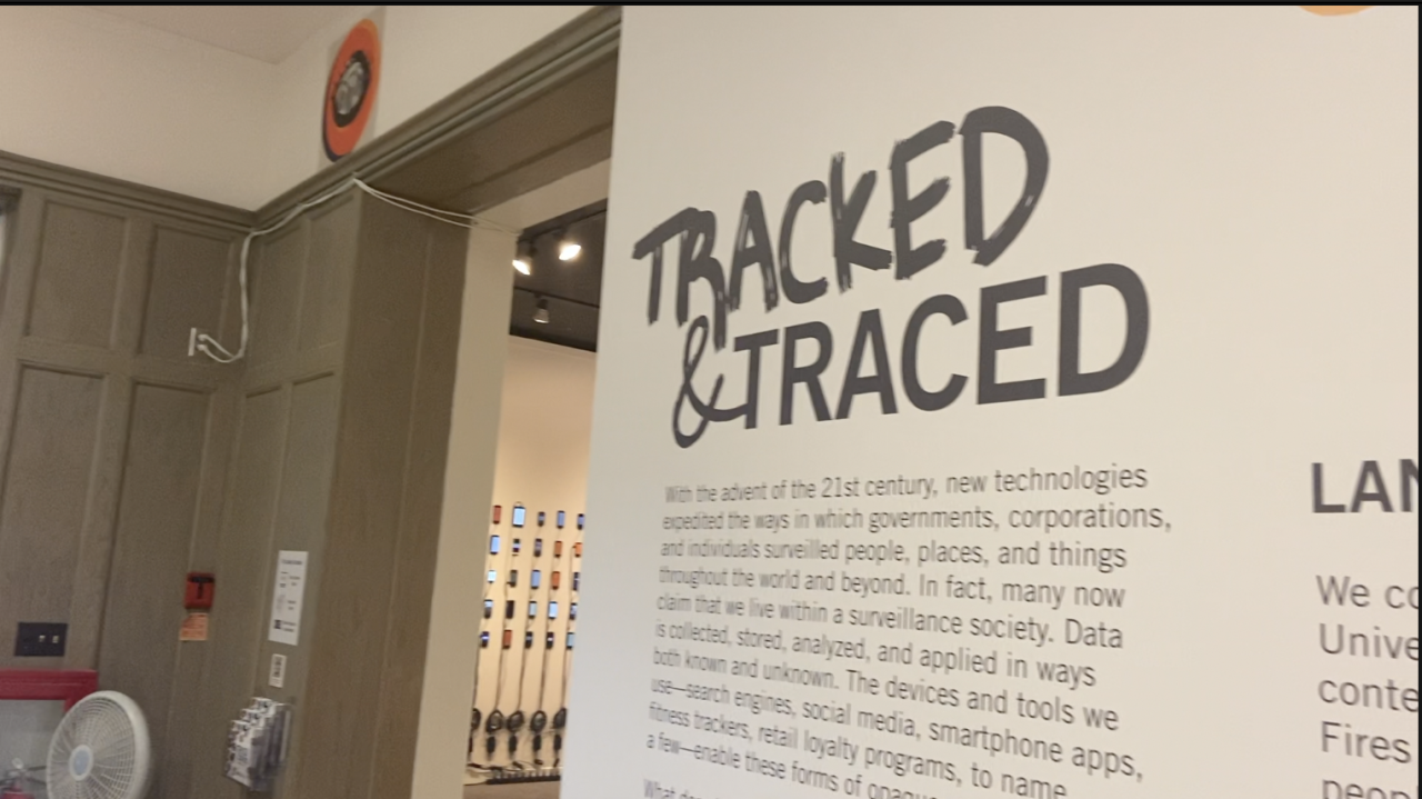 """""""Tracked and Traced"""" will be on display until Dec. 11"""