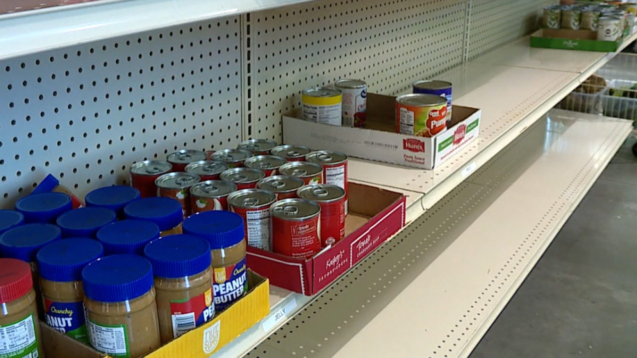 Daystar Life Pantry empty shelves