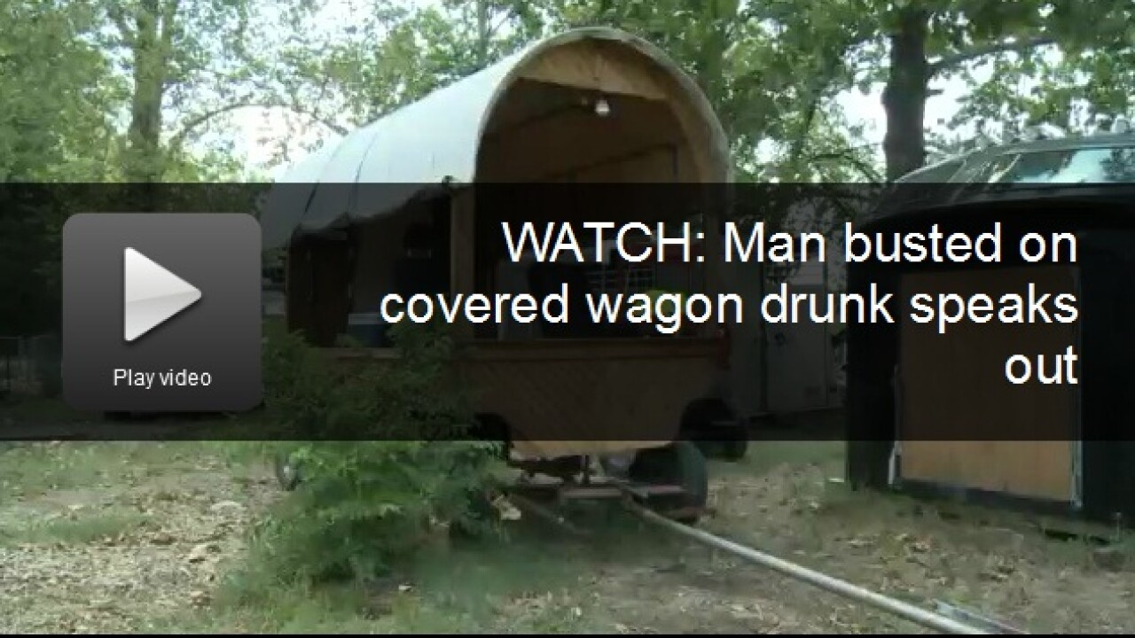 Man tasered after allegedly ramming cop car with covered wagon