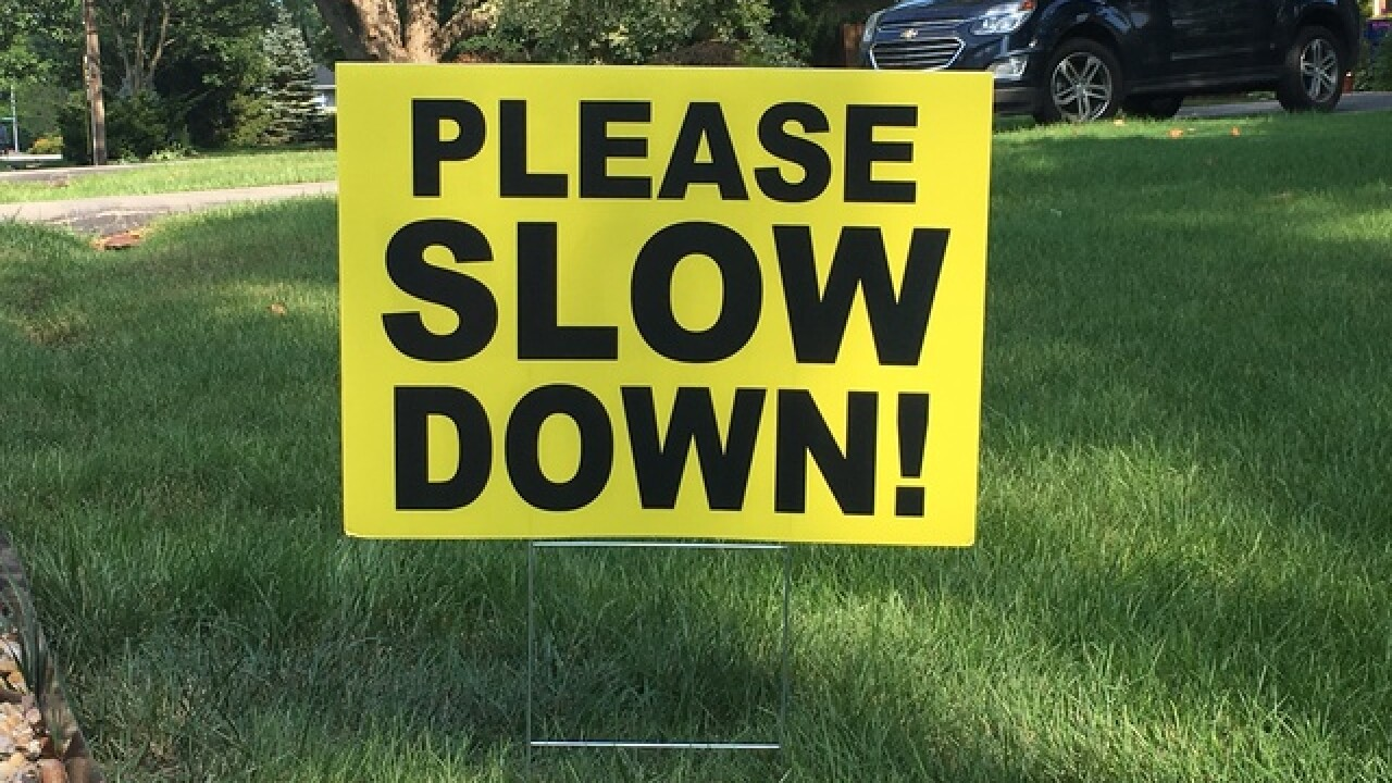Indy neighborhood's message to those speeding