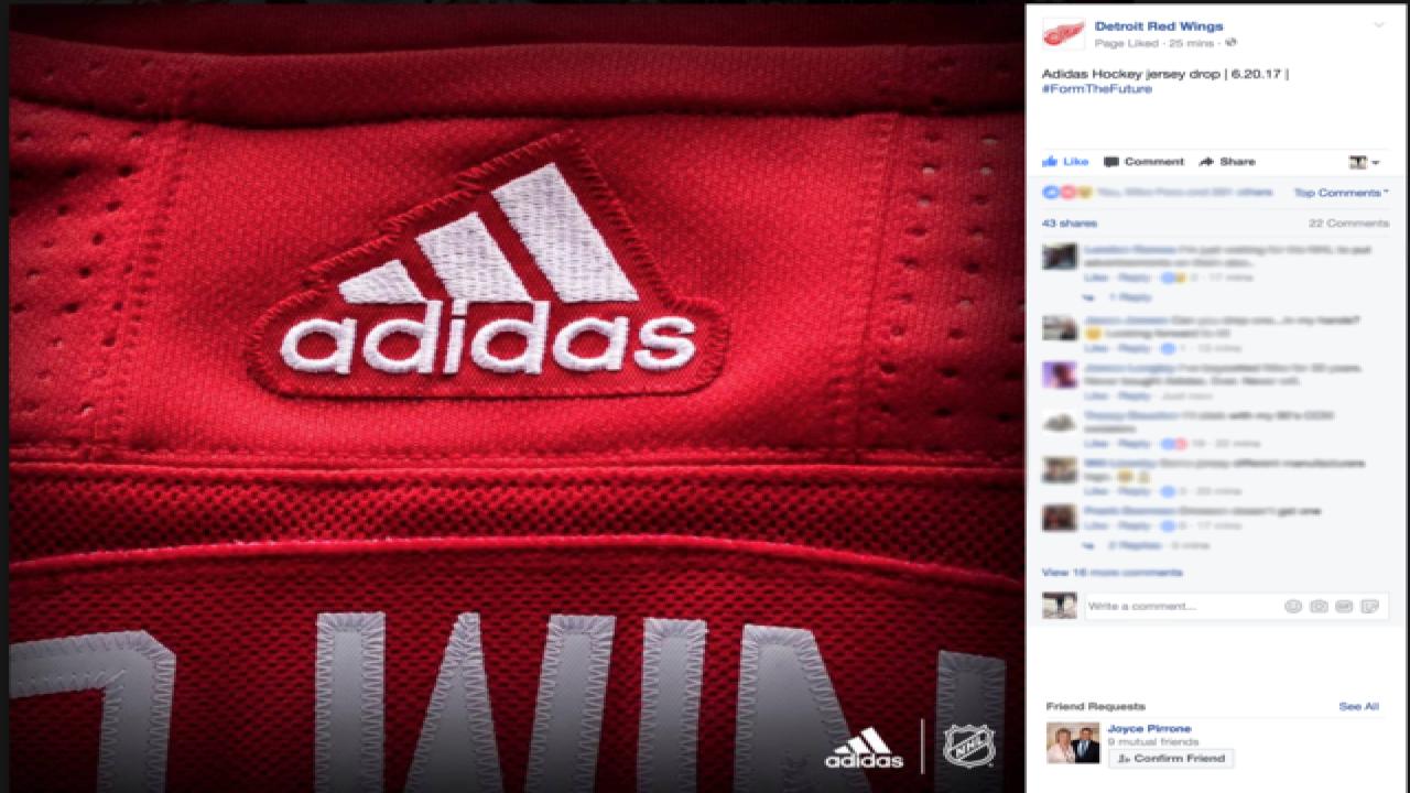 d441ea37337f Detroit Red Wings tease new Adidas hockey jerseys