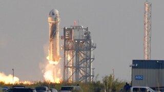 Bezos Blue Origin launch