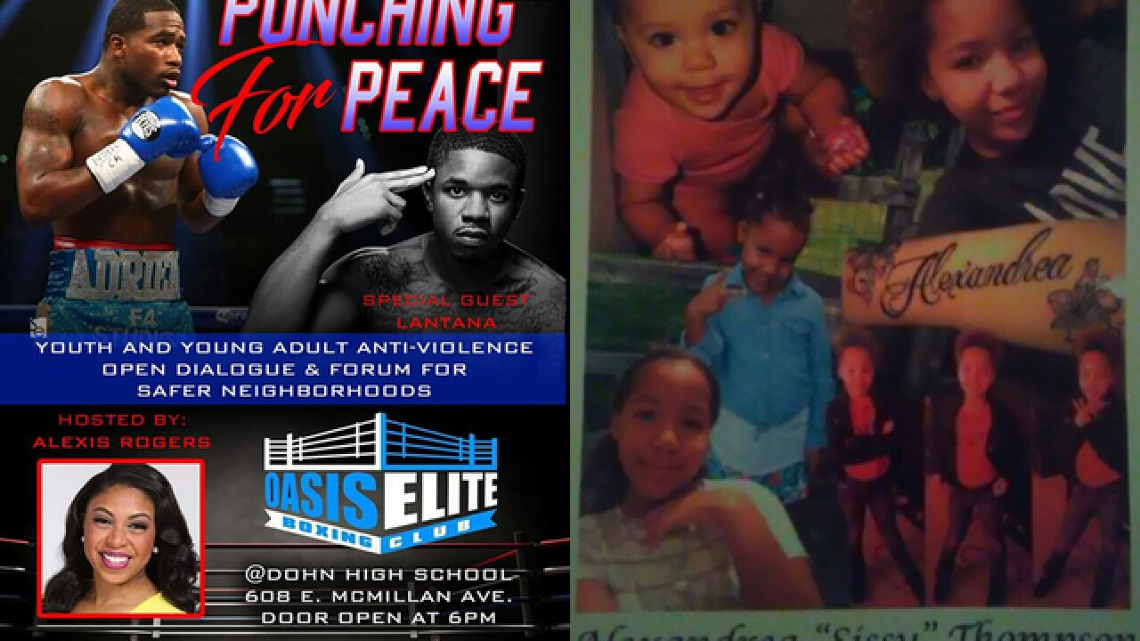 Local gym 'punches for peace' after girl's death