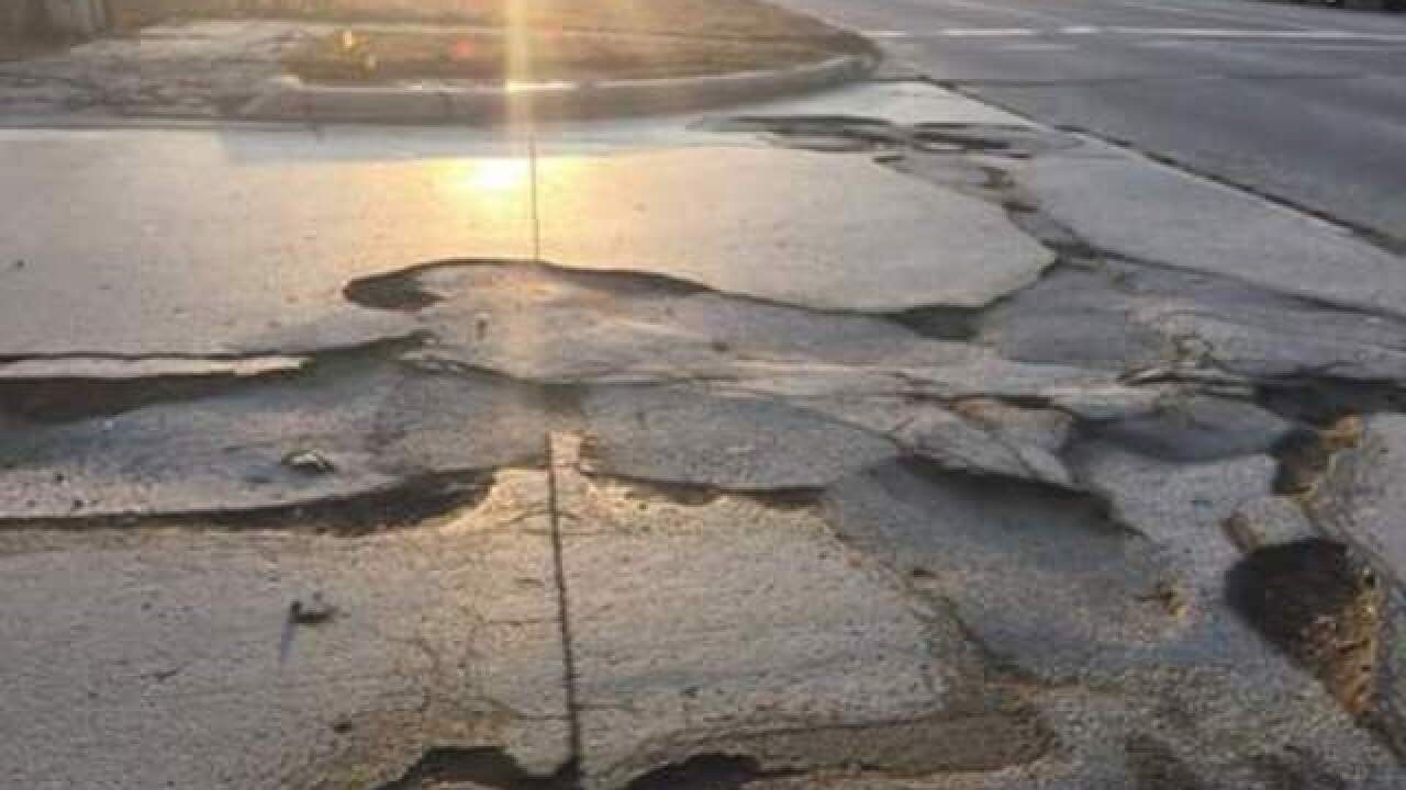 SUBMIT PHOTOS: Worst potholes in metro Detroit
