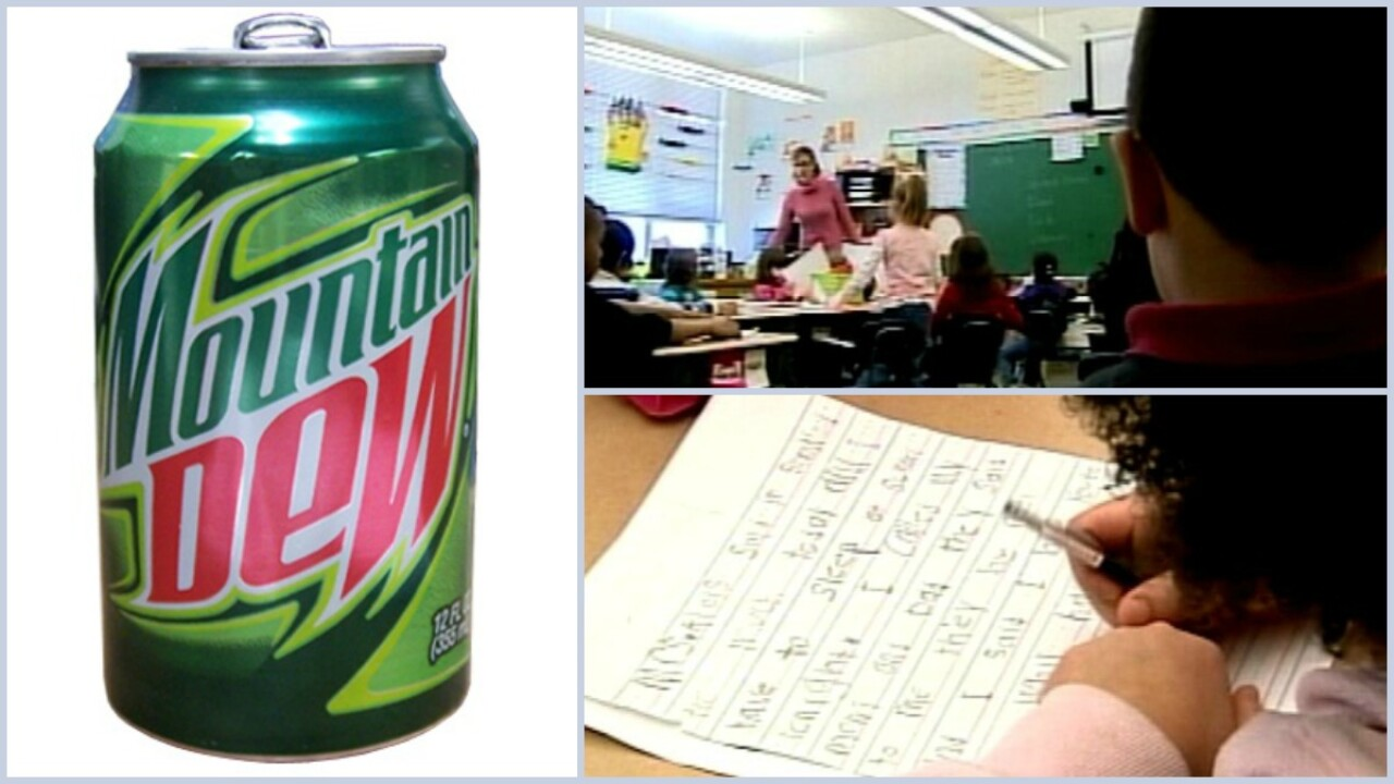 School offers students Mountain Dew before standardized tests