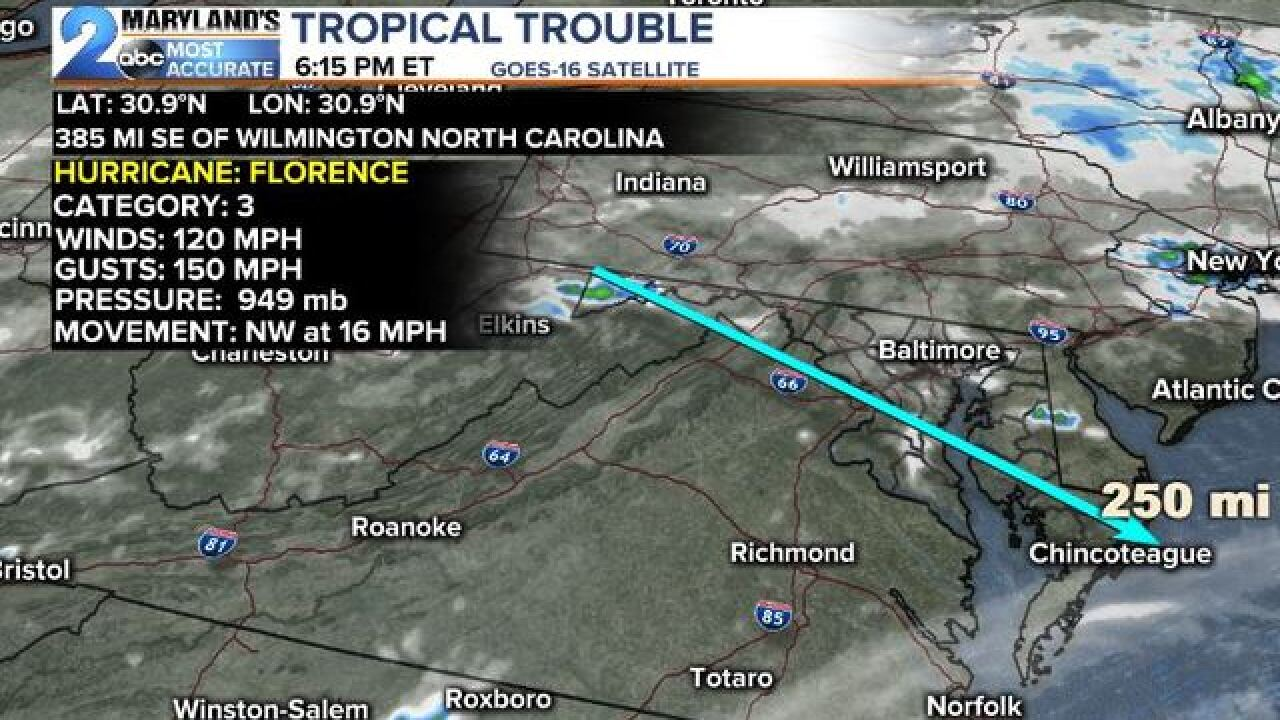 FLORENCE: Is The Storm Wider Than Maryland