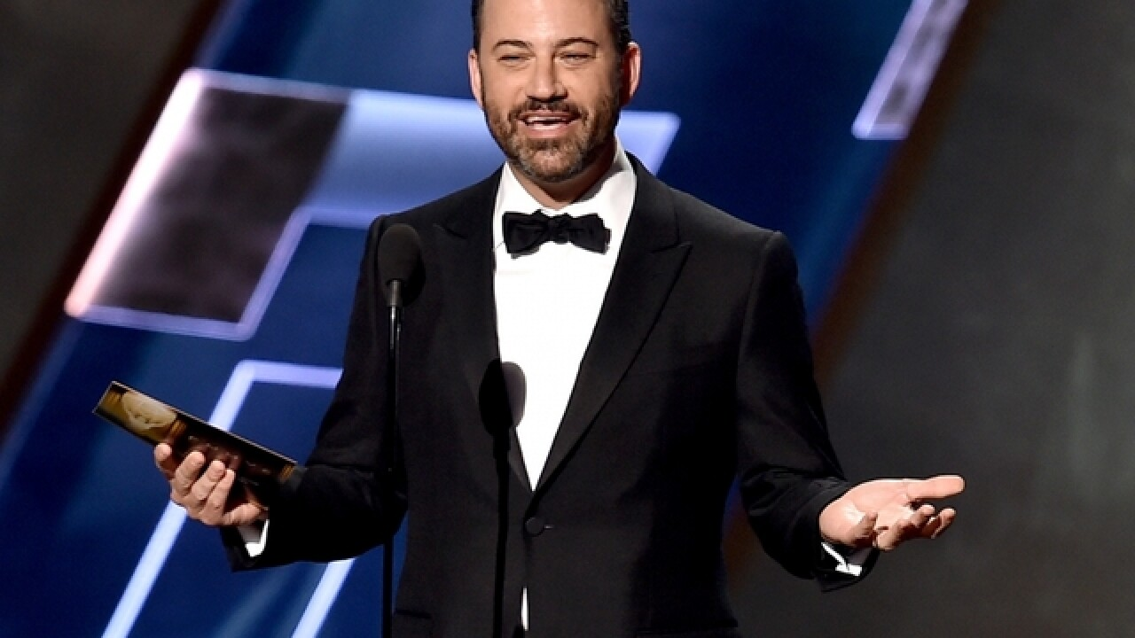 Emmys: Jimmy Kimmel feeds PB&J sandwiches to hungry audience