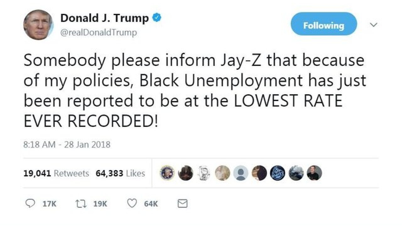 Trump hits Jay-Z on black employment following interview