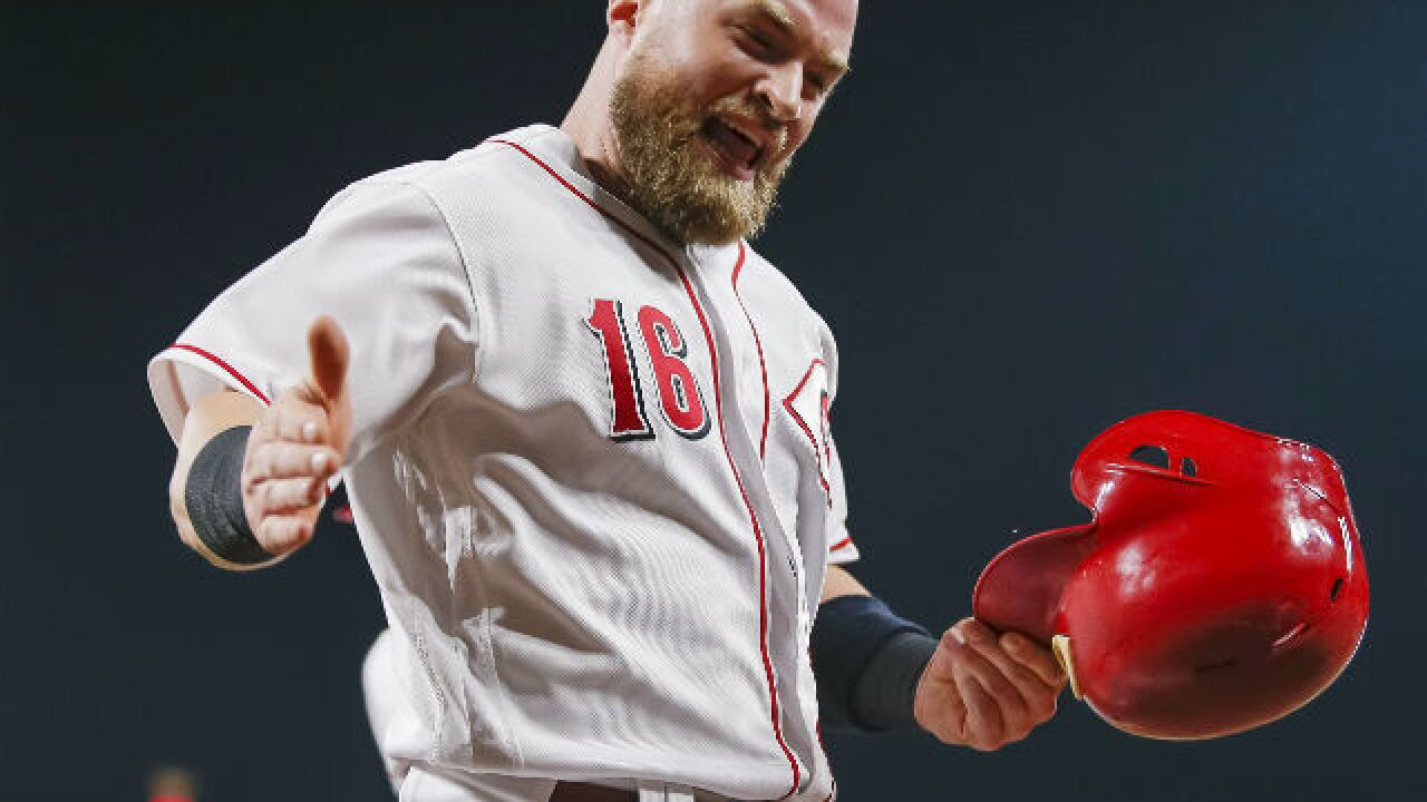Tucker Barnhart sparks Reds' winning four-run rally in eighth inning