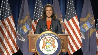 Whitmer caught on hot mic: 'It's shark week mother f******'
