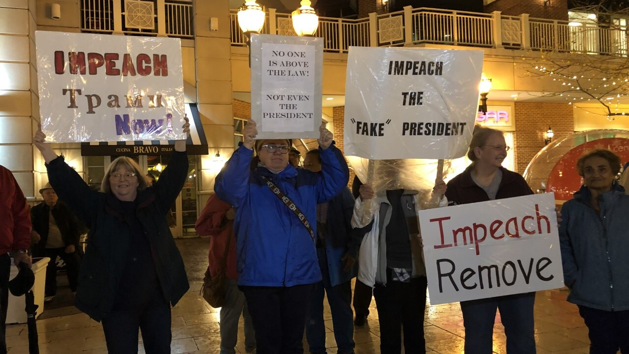 Impeachment rallies held in two Hampton Roadscities