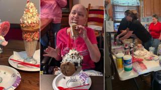Ice cream shop, sheriff deliver milkshakes an hour away to terminally ill Virginia woman
