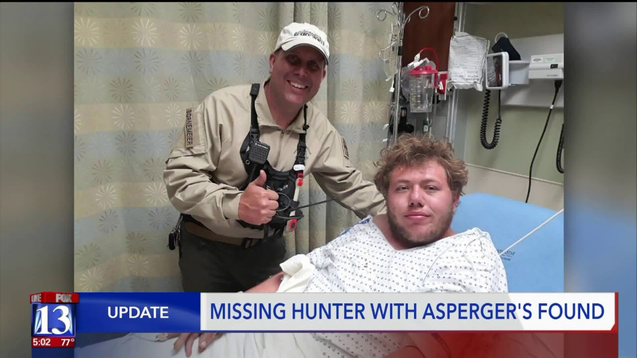 Rescuers find teen who went missing while hunting deer with father in Davis County