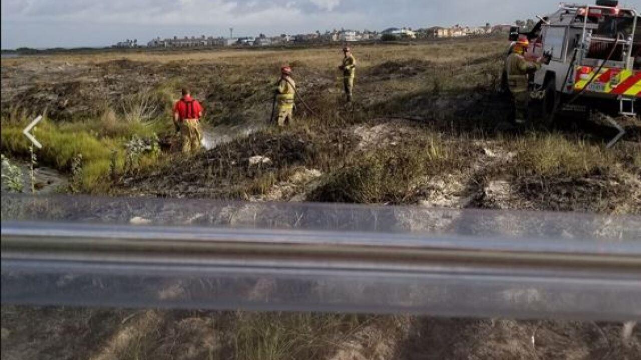 Local fire crews battle fire near Sea Pines