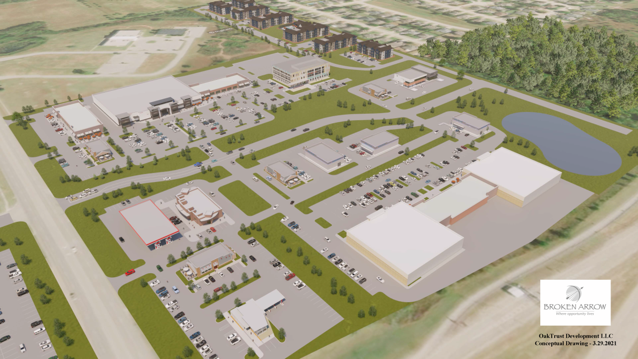 Conceptual drawing of South Broken Arrow innovation project