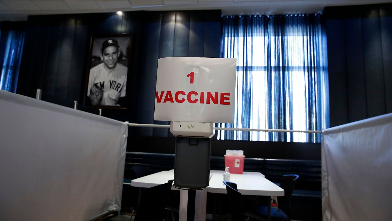 Yankee Stadium vaccination site