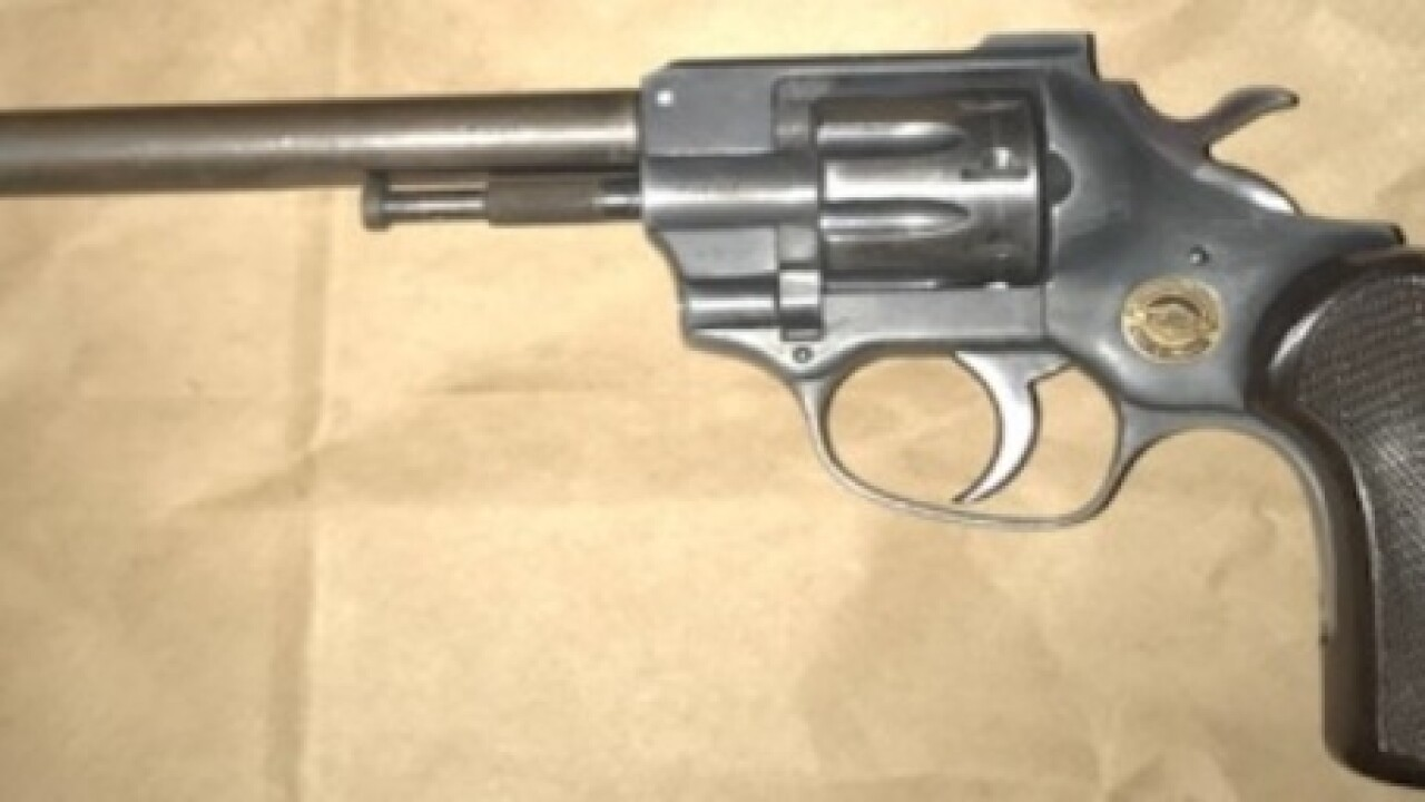Man arrested after he was found with .22 caliber revolver at party