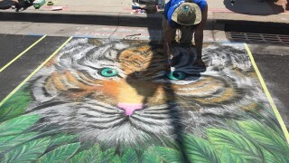 See the artwork of the Denver Chalk Art Festival