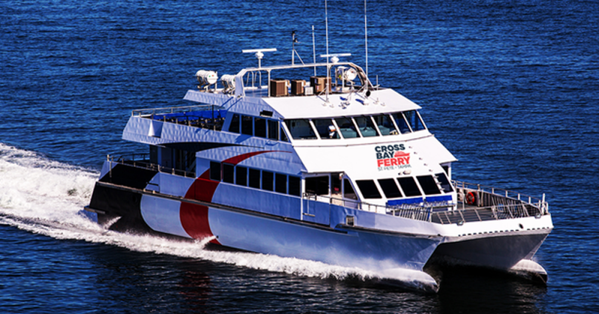 Cross-Bay Ferry limiting number of passengers because of coronavirus concerns