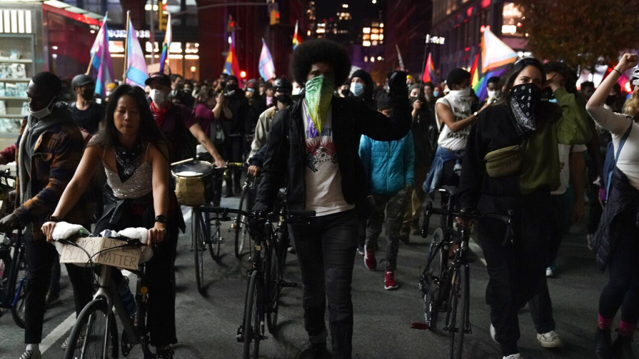 Election 2020 Protests New York