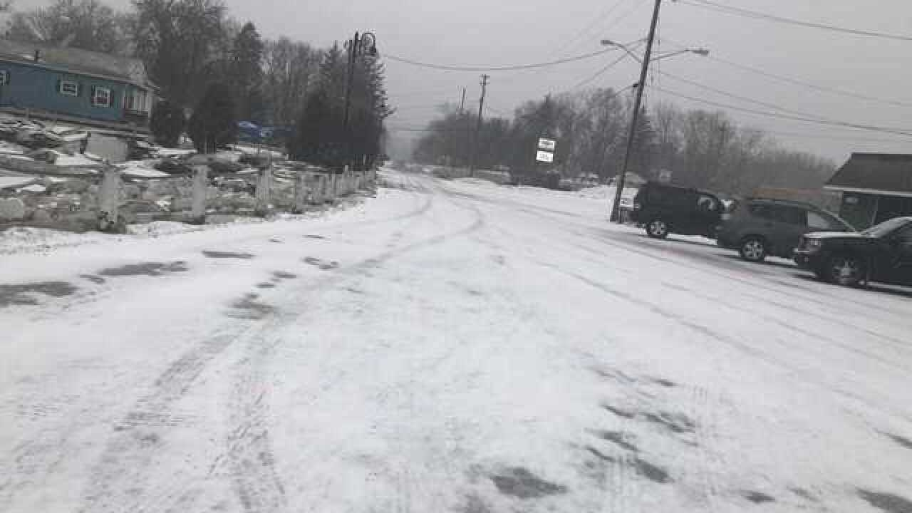 PHOTOS: Snow and ice across NE Ohio as the winter storm rolls in