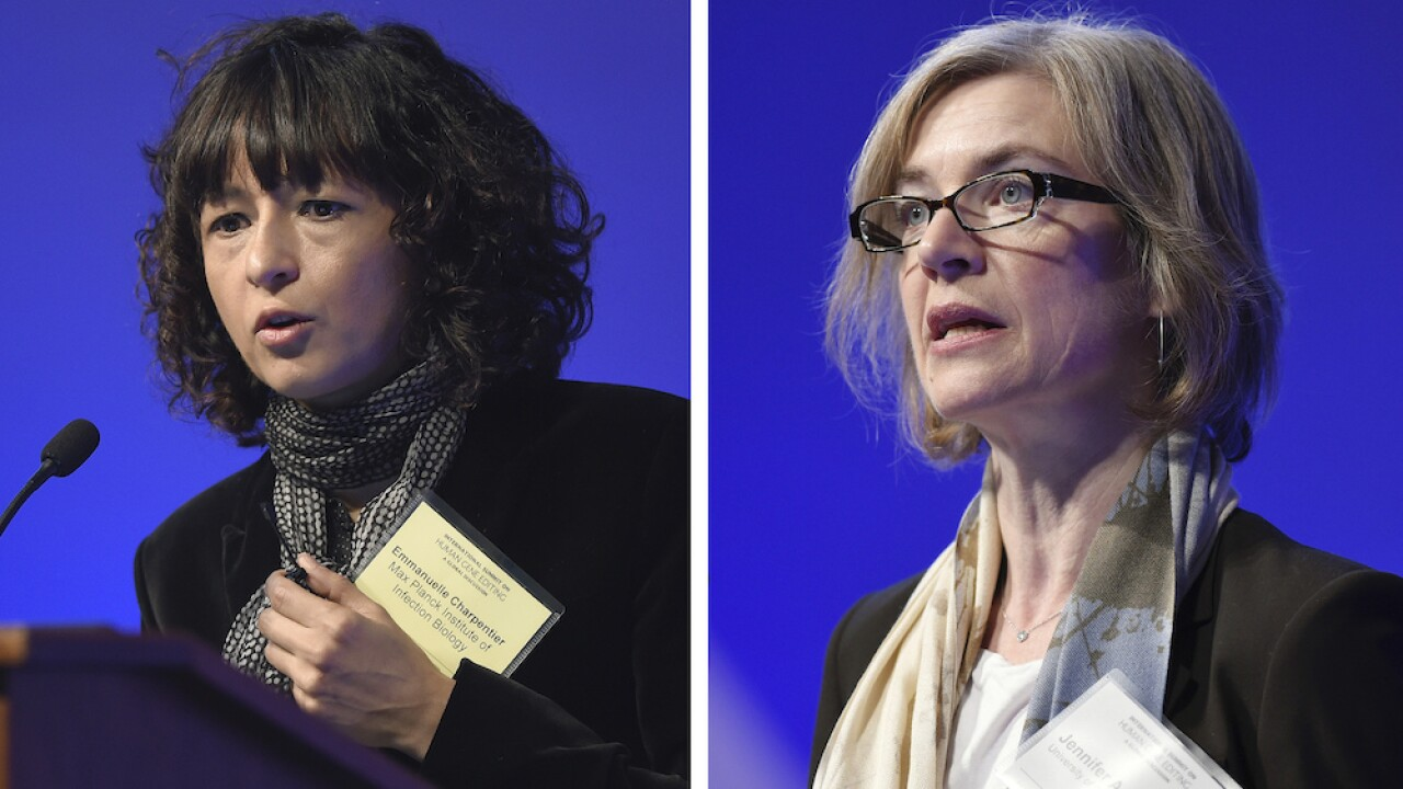 Nobel Prize for chemistry goes to two scientists for work on genome editing