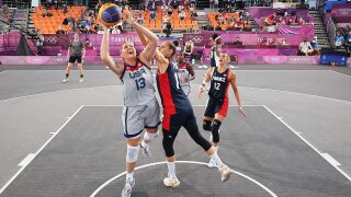 USA knocks off France in opening game of 3x3 basketball pool play