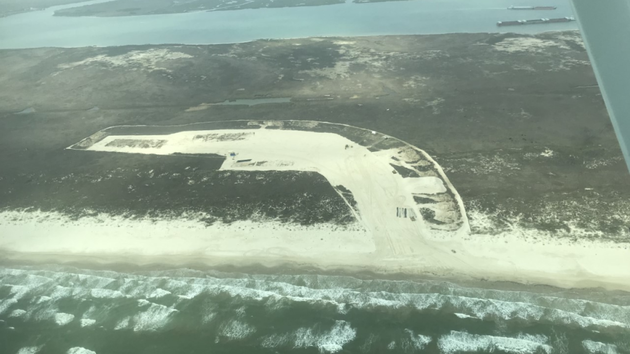 Barges that Hurricane Harvey placed on San Jose Island removed