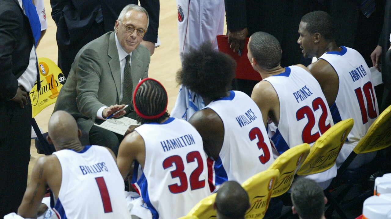 FILE Larry Brown Pistons Basketball