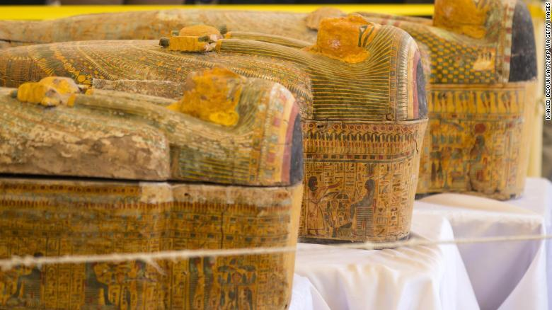 Photos: Egypt unveils discovery of 30 ancient coffins with mummies inside