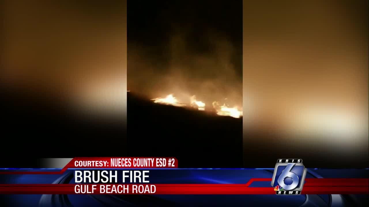 Gulf Beach Road fire