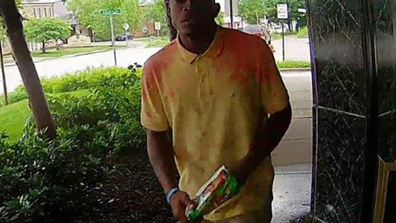 Lawn mower thief sought in Baltimore
