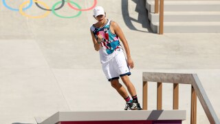 American Jagger Eaton takes bronze in first-ever Olympic skateboarding final