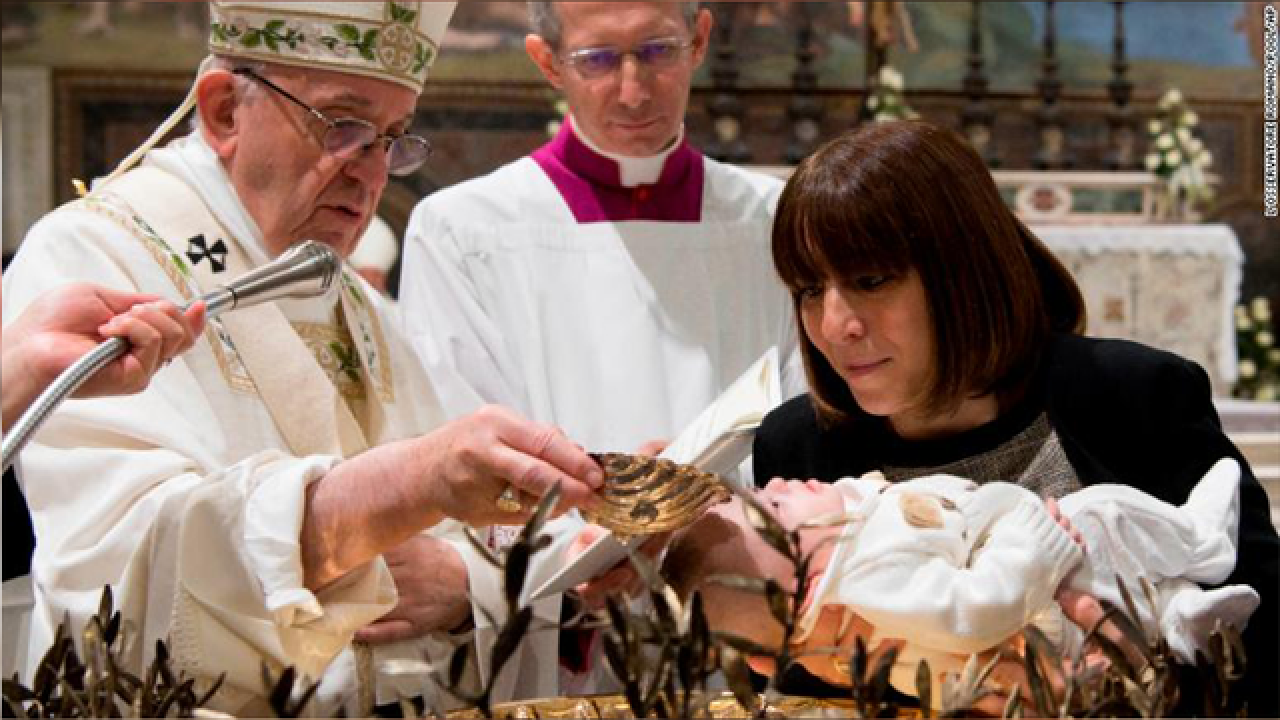Pope Francis tells breastfeeding moms it's fine to feed hungry babies in church