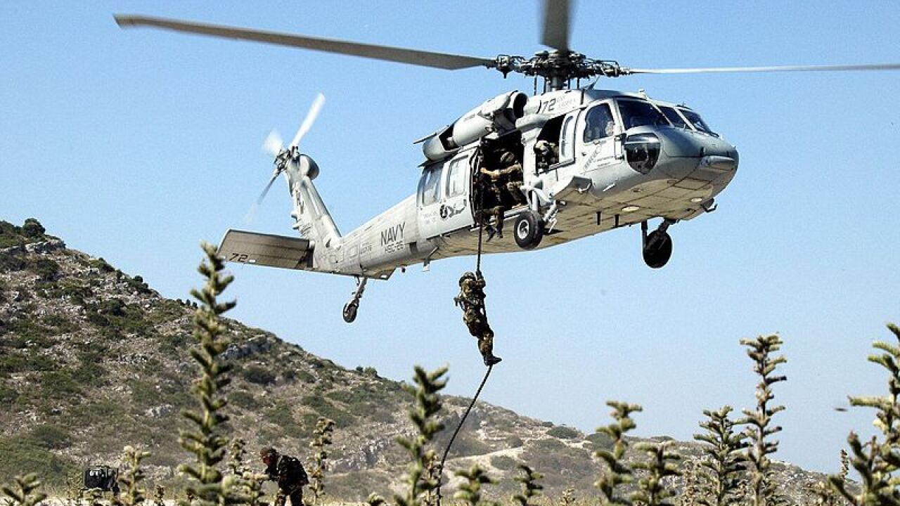 Navy MH-60S helicopter crashes during training in Kuwait