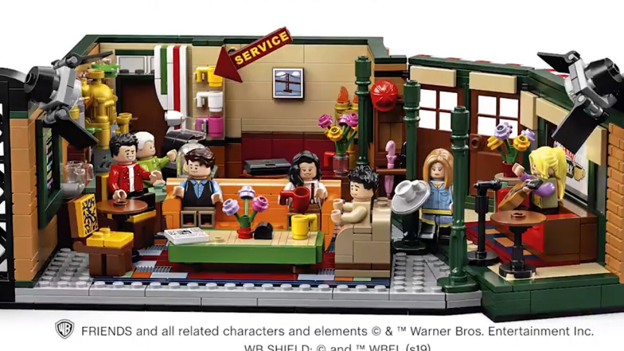 Lego celebrates 'Friends' 25th anniversary with Central Perk set