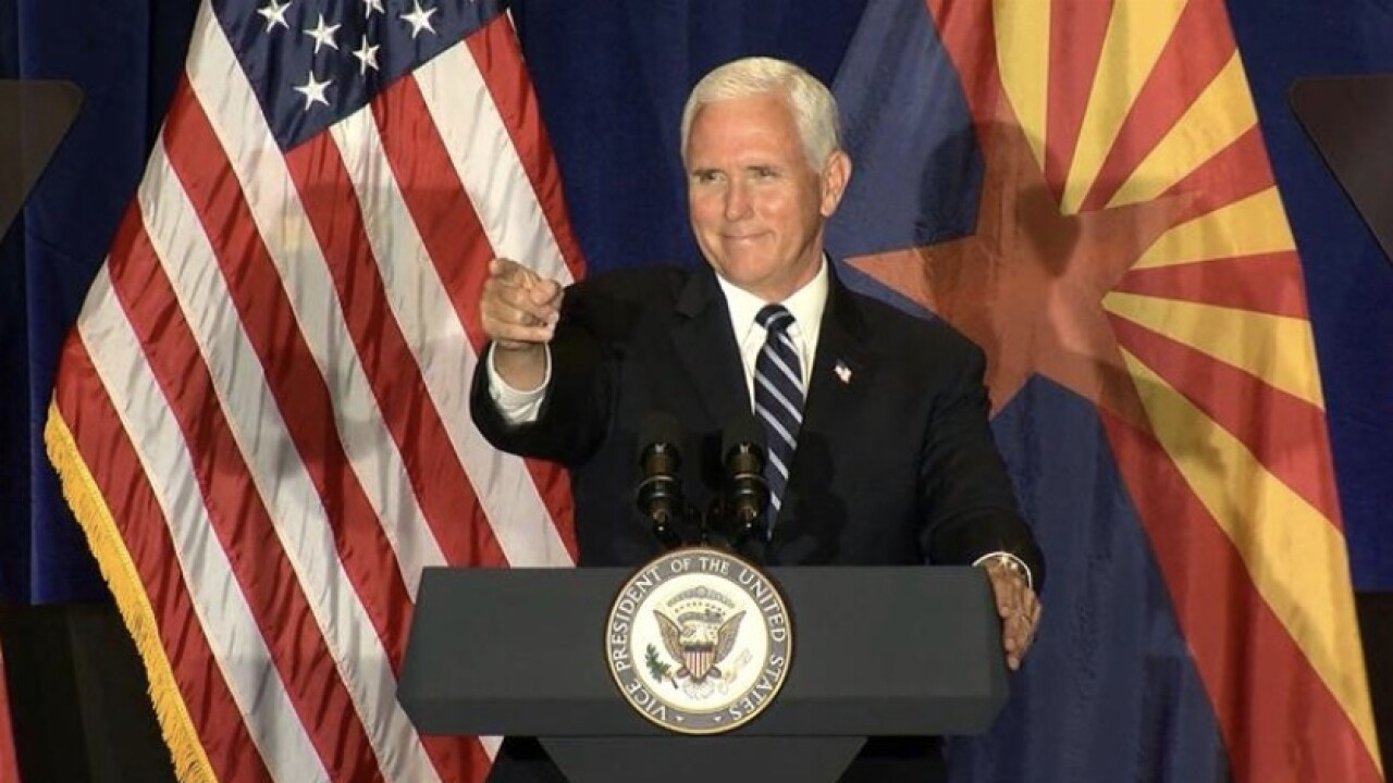 Vice President Mike Pence to visit Arizona on August 11
